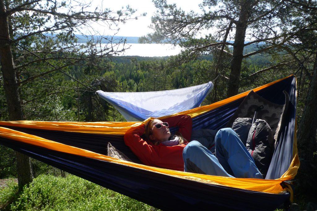 Å sove alene i en dobbel hengekøye er luksus!